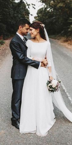 Modest Wedding Dresses Of Your Dream ★ See more: weddingdressesgui. Modest Wedding Dresses Of Your Dream ★ See more: weddingdressesgui… Modest Wedding Dresses Of Your Dream ★ See more: weddingdressesgui… Boat Neck Wedding Dress, Sheer Wedding Dress, Rustic Wedding Dresses, Backless Wedding, Wedding Dress Sleeves, Modest Wedding Dresses, Designer Wedding Dresses, Wedding Skirt, Trendy Wedding