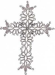 new Ideas for crochet christmas snowflakes pattern cross stitch Crochet Bookmark Pattern, Crochet Motif Patterns, Crochet Bookmarks, Crochet Cross, Crochet Diagram, Crochet Chart, Thread Crochet, Crochet Designs, Crochet Doilies