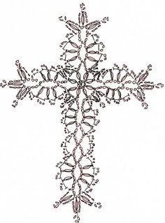 十字架のモチーフ(クロス・編み図付き) : Crochet a little