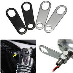 2 x Motocicleta Turn Signal Indicator Light Portalámparas Tenedor Choque Soportes Para Custom Chopper Bobber Cafe Racer Soportes de Fijación