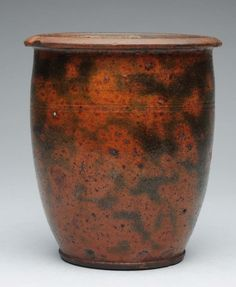 Early Redware Crock.