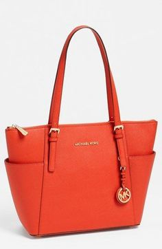 MICHAEL Michael Kors 'Jet Set' Leather Tote available at #Nordstrom #brianatwoodhandbags