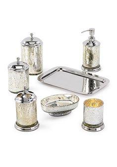 Soap Dispenser Windisch 90461 Round Crackled Crystal Glass Soap Dispenser 9