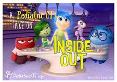 OT Corner: A Pediatric OT's Take on Inside Out-pinned by @PediaStaff – Please Visit  ht.ly/63sNt for all our pediatric therapy pins