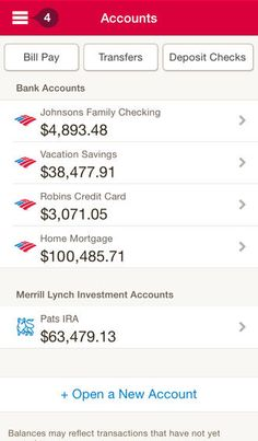 Bank of America App ver. 5 (Accounts)