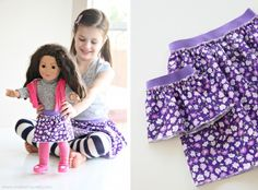 Matching 'Dolly and Me' skirts.  and some great skirt patterns too.  Fun idea for when she is older.