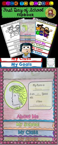 Your students will have as much fun as mine did in assembling this flipbook on their first day of school.