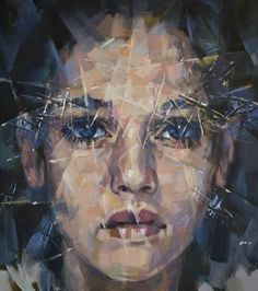 """사치 예술가 Alexander Ilichev;  페인팅, """"인물""""#art"""