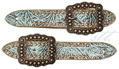 New Blog on STT -- Product: Adult Western Turquoise & Brown Tooled Belt Spur Straps w/Copper Dots | Read our newest Blog Post: Pre-Horse Show Checklist - Part 4: Rider Gear, so you don't forget any of your riding gear before setting off for your next horse show | blog.SouthTexasTack.com #STTblog