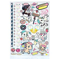Love And Madness X Tokidoki Tattoo Set ($25) ❤ liked on Polyvore featuring multi