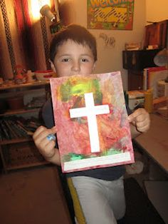 Painted cross craft