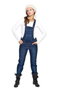 Spodnie ciążowe Torelle ogrodniczki LEROS