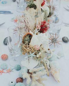 39 Gorgeous Beach Wedding Decoration Ideas ❤ beach wedding decoration ideas centerpiece with coral with marine plants igloophoto #weddingforward #wedding #bride