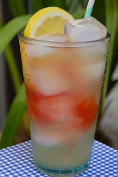 Long Beach Iced Tea...though I don't drink much, I do enjoy a Long Island Iced Tea once in a blue moon. Here is a variation.