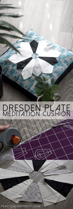 DIY Dresden Plate Meditation Pillow