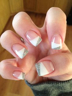 Gels nails by andrea gel nail designs, cute nail designs, luxury nails, jojo White Nail Designs, Gel Nail Designs, Nails Design, Dip Nail Colors, Gel Nails French, Luxury Nails, Super Nails, Perfect Nails, Blue Nails