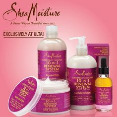 Favorite Shea moisture line is the Raw Shea Butter Moisture Retention! Truly a great line. I now only use the Shampoo abs don't use covering on my hair anymore, is really miss necessary to use, because if your not using a harsh strong shampoo, then your hair will be just fine without using conditioner, all you need is a good oil/cream like a Shea Butter and Castor Oil mix to seal the hair and help retain moisture. Eliminating a lot of unnecessary hair products is good for your hair and stops…