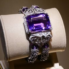 Fantastic CARTIER amethyst bracelet and watch.