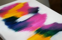 Original abstract painting on canvas SUNSET 0001