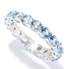 126-622 - BELITA™ Platinum Embraced™ Brilliante® 3.06 DEW Colored Round Cut Eternity Band Ring