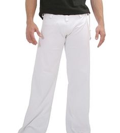White Capoeira Pants for Adults - Price includes Worldwide shipping