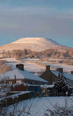 Table Mountain Crickhowell (Crug-Hywell in Welsh meaning Howells Rock where a King Howell had a castle)