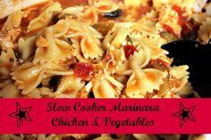 Marinara Chicken & Vegetables Recipe for the Crockpot