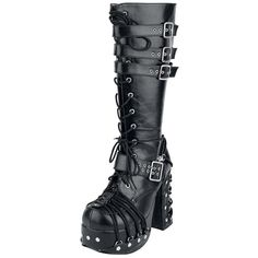 Iron Fist Plateau-Schuhe Too Fly Super Boot-Gothic-WGT-Nugoth-Feldermaus-Plateau