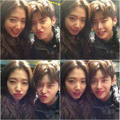 Lee Jong-Suk & Park Shin-Hye in ' Pinocchio ' bts selca's #kdrama
