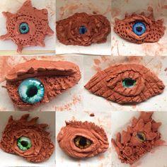 Dragon clay eyes