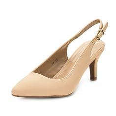 0446a4ad01dd DREAM PAIRS Women s LOP Nude Nubuck Low Heel Pump Shoes - 7.5 M US.