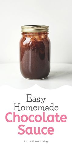 Chocolate Syrup Recipes, Homemade Chocolate Syrup, Little House Living, Sweet Sauce, Spice Mixes, Vegetarian Chocolate, Ice Cream Recipes, Perfect Food, Frozen Yogurt