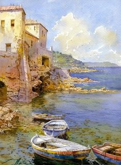 Watercolor by FAUSTINO MARTIN GONZALEZ:
