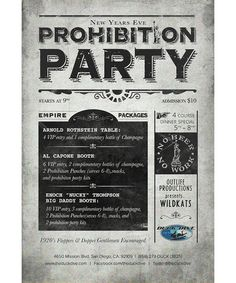 ShakeyHands Creative | Prohibition Party