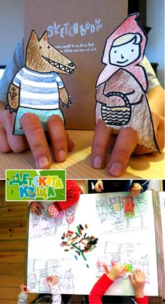 Little Red Riding Hood – puppet theatre for small fingers :)...make her own characters for her stories!