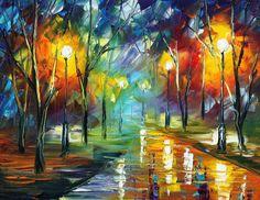 Loving Night  - by Leonid Afremov