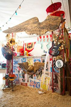 junk gypsy tent at Zapp Hall Antique Show. Cheryl Lehane is featured in the Winter 2014 issue of where women create BUSINESS magazine #antiques #vintage #show | Photography by April Pizana