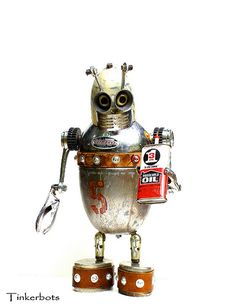 Dormeyer 5 | D-5 is a Found Object ~ Assemblage Robot Sculpt… | Flickr