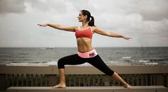 Doing Yoga at Red Reef Park Beach in Boca Raton, Florida   www.micahkvidt.com