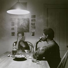 Brooklyn Museum: Burning Down the House: Building a Feminist Art Collection Carrie Mae Weems (American, b. 1953). Untitled (Man Smoking/Malcolm X), from the Kitchen Table series, 1990. Gelatin silver print, edition 5 of 5. Brooklyn Museum, Caroline A. L. Pratt Fund, 1991.168