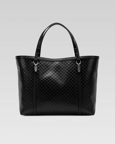 Gucci Nice Microguccissima Leather Tote, Black by Gucci at Neiman Marcus.