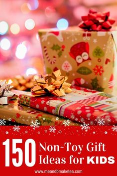 150 Non-Toy Gift and Present Ideas for Kids - This bumper list of gift and presents is packed full of unique ideas which the whole family will love - from toddlers and pre-schoolers to older children and teenagers - even adults. If you're fed up buying the same plastic junk each year, take a look for inpsiration. #christmas #notoy #noplastic #christmasgift