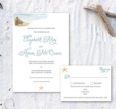 Printable Nautical Seashore Invitation by ChirpPaperie on Etsy