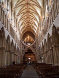 Wells Cathedral, Somerset.  Stunning interior.