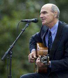 "Jonathan D. Woods / msnbc.com    James Taylor performs ""You can close your eyes"" during the 10th anniversary ceremony of the attacks on America at Ground Zero in New York on Sunday, September 11, 2011."