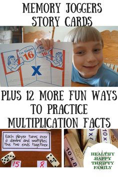 Multiplication and Division Memory Joggers Story Cards Great for a math teacher or homeschooling mom teaching times tables memorization! Multiplication Facts made easy!