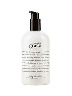 Legs  It's no mystery why this serum's reputation borders on mythological! Massage it into loose leg skin every day for a week for some serious toning and cellulite-busting (we can actually feel it working!).     Philosophy Amazing Grace Firming Body Emulsion, $35, sephora.com
