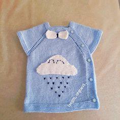 Yandan Düğmeli Bulutlu Bebek Yeleği Yapılışı Baby Knitting Patterns, Kids And Parenting, Baby Dress, Sweaters, Jackets, Dresses, Fashion, Baby Vest, Made By Hands