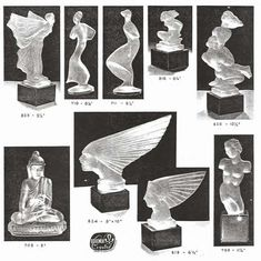 Weil Ceramics & Glass Inc. Catalog For Barolac Sculpture Glass - Czech Bohemian Glass That Is Often Found With Fake or Forged R. Lalique France Signatures: Page 8 Czech Glass, Catalog, Mid Century, Bohemian, Ceramics, Sculpture, France, Elegant, Art