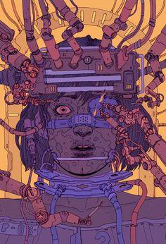 Sci-Fi, Distopia e Cyberpunk: Conheça a arte de Josan Gonzalez Arte Cyberpunk, Cyberpunk Aesthetic, Cyberpunk 2077, Character Concept, Character Art, Concept Art, Character Design, Arte Sci Fi, Sci Fi Art